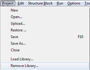 Remove libraries